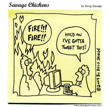 Fire! Cartoon | Savage Chickens - Cartoons on Sticky Notes by Doug Savage