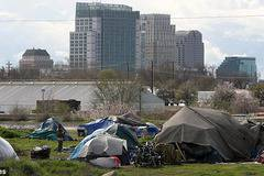 Pictured: The credit crunch tent city which has returned to haunt America