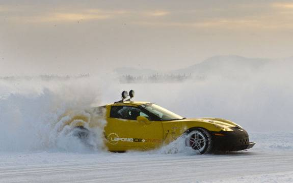 How to drive a supercar on ice