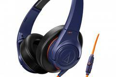 Слушалки с микрофон Audio-Technica ATH-AX3iSNV SonicFuel, Navy Blue