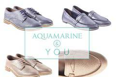 Aquamarine shoes and bags