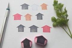 House silhouette rubber stamp house silhouette stamp house