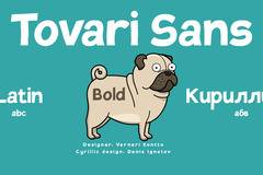 Tovari Sans by Verneri Kontto. Cyrillic set by Denis Ignatov