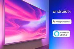 "Телевизор LED Smart Android Philips, 43"" (108 см), 43PUS7304/12, 4K Ultra HD"